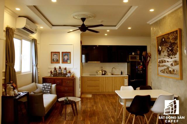 Nhờ tính toán và bố trí mọi không gian chức năng hợp lý nên căn hộ nhà anh Toàn dù nhỏ nhưng vẫn thoáng sáng và vô cùng tiện nghi cho gia đình.