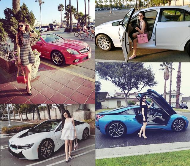 Gu thời trang của cô cũng khá cầu kỳ, luôn luôn ton-sur-ton với chiếc xe mà cô chọn để đi.