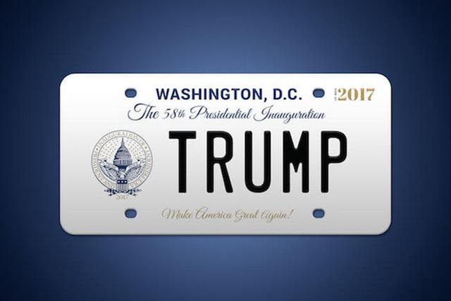Biển kỷ niệm lễ nhậm chức của ông Trump. Ảnh: 58pic2017.org