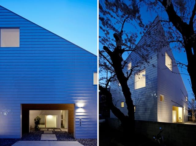 Công trình được xây dựng với rất nhiều ô cửa sổ có kích thước lớn, nhỏ khác nhau mang ánh sáng và lưu thông không khí cho ngôi nhà.