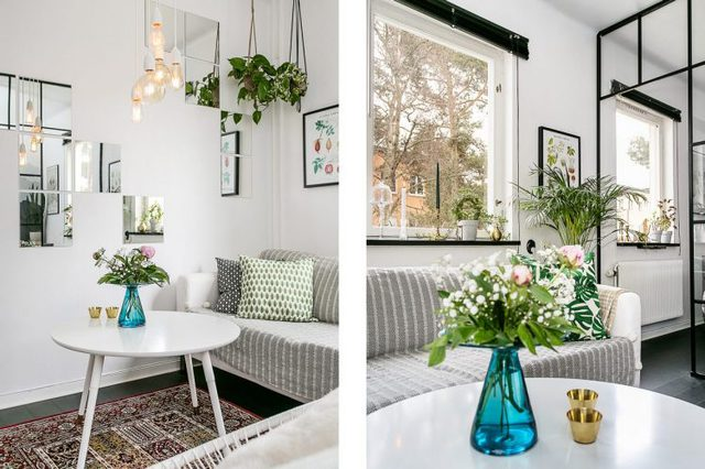 Tông màu trắng là màu chủ đạo cho toàn bộ không gian trong nhà: từ tường, trần nhà cho đến phần lớn những món đồ nội thất lớn nhỏ. Đây là sự lựa chọn thông minh khiến ngôi nhà nhỏ trở nên thoáng sáng hơn.