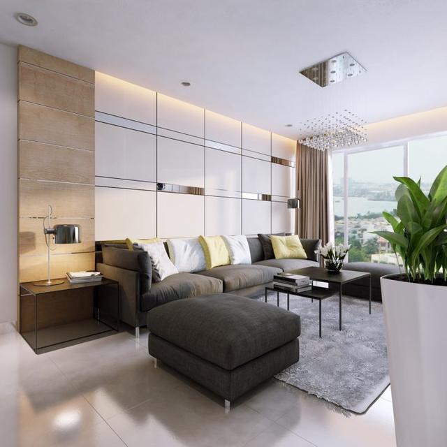 Góc tiếp khách được chủ nhà dành riêng vị trí đẹp nhất, thoáng nhất cạnh cửa sổ. Nơi đây được thiết kế đơn giản với bộ sofa đen và bàn trà nhỏ.