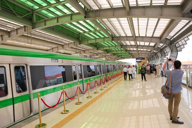 Dự án đường sắt đô thị Cát Linh-Hà Đông mở cửa cho người dân tham quan. (Ảnh: Minh Sơn/Vietnam+)