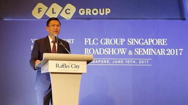 Ông Lê Thành Vinh – Tổng giám đốc Tập đoàn FLC phát biểu khai mạc chương trình.