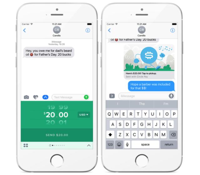 Tính năng chuyển tiền trên iMessage, một tính năng mà WeChat đã có từ lâu.