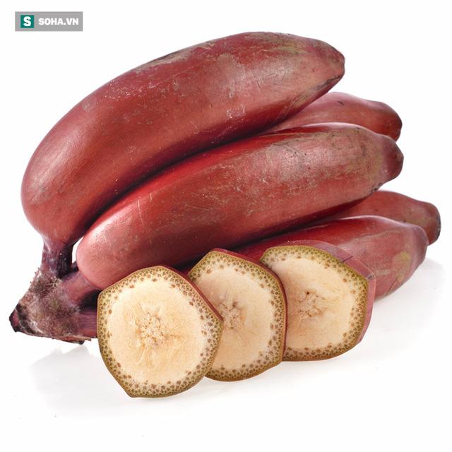 Chuối đỏ chứa nhiều chất dinh dưỡng và tốt hơn chuối vàng.