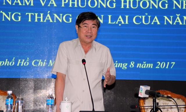 Ông Nguyễn Thành Phong, Chủ tịch UBND phát biểu tại hội nghị