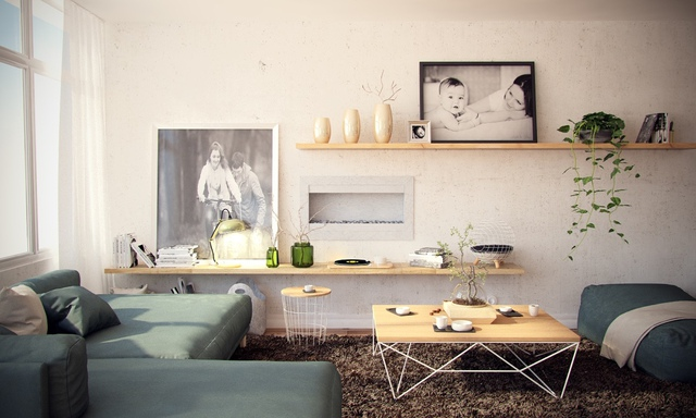 Phòng khách được bài trí vô cùng đẹp mắt khiến bất kỳ vị khách nào ghé thăm cũng đều cảm thấy yêu mến, thích thú bởi vẻ đẹp bình yên ngay từ cái nhìn đầu tiên.