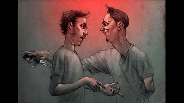 Người không đáng tin cậy có thể trở mặt và đâm sau lưng bạn bất cứ lúc nào. Tranh minh họa.
