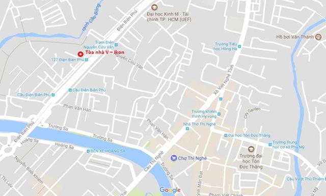 Cao ốc V-Ikon có địa chỉ tại số 129 A - 131 - 131 A - 133 - 135 A - 153/33 đường Điện Biên Phủ, phường 15, quận Bình Thạnh, TP HCM. Một vị trí khá đắc địa tại TP HCM