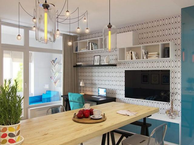 Trong căn hộ, tất cả các không gian đều được bố trí vô cùng khoa học và tận dụng tối đa diện tích sử dụng.