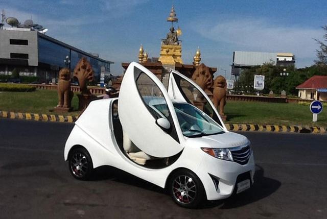 Mẫu xe điện Angkor EV 2014 của Campuchia