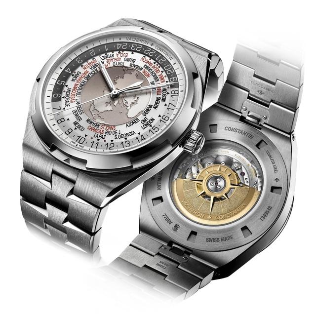 Là người bạn đồng hành lý tưởng, mẫu Overseas World Time có vỏ đường kính 43,5mm, chứa máy 2460 WT.