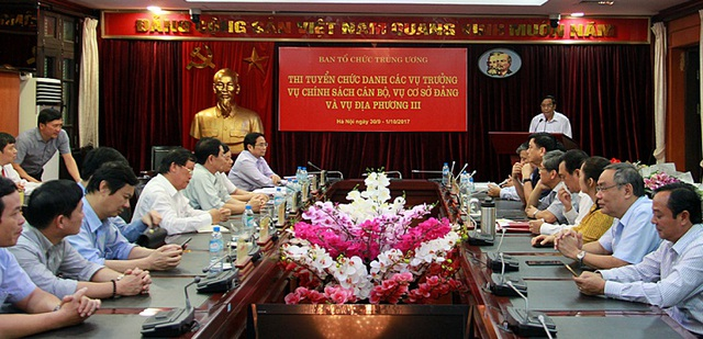 Ban Tổ chức TƯ công bố kết quả thi tuyển chức danh Vụ trưởng 3 vụ: Chính sách cán bộ, Cơ sở Đảng, Địa phương 3.  Ảnh: Xuân Sơn