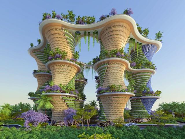 Hyperions là một dự án nông nghiệp bền vững có khả năng chống biến đổi khí hậu do Kiến trúc sư người Bỉ Vincent Callebaut thiết kế.