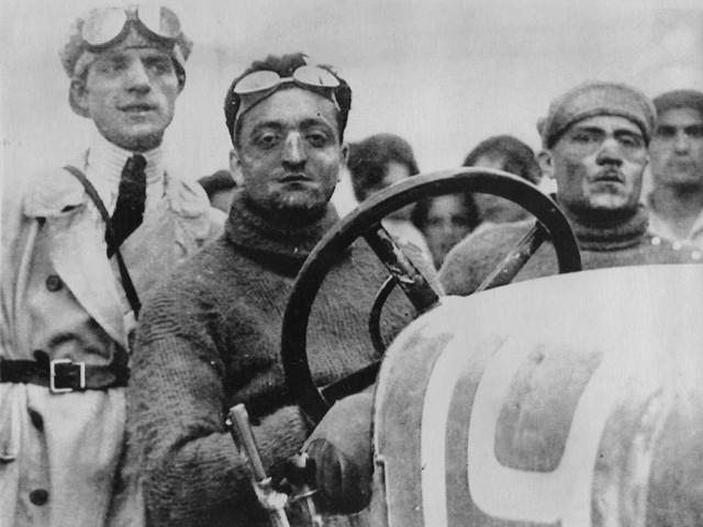Enzo Ferrari khi còn là một tay đua