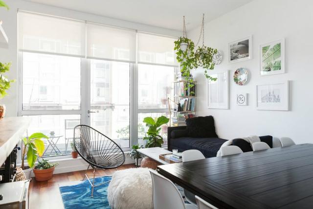 Căn hộ nhỏ có đầy đủ các khu vực chức năng rộng thoáng: phòng khách, bếp, khu vực ăn uống, phòng ngủ, …