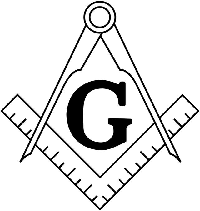 Biểu tượng thước góc vuông và compass của Hội Tam điểm.