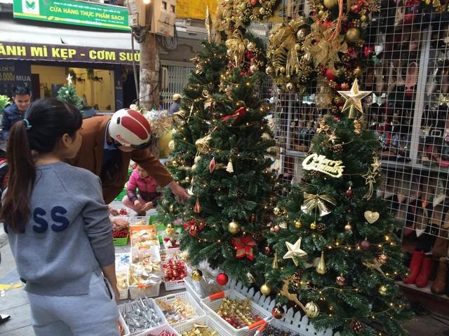 Là mặt hàng chính không thể thiếu mỗi dịp Noel nên cây thông được báy bán khá nhiều, đa dạng về mẫu mã và kích thước.