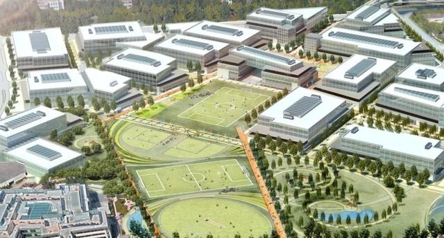 Dự án thành phố mini bền vững sau khi hoàn thành sẽ gồm 18 tòa nhà mới, một quảng trường mở rộng, không gian bán lẻ…