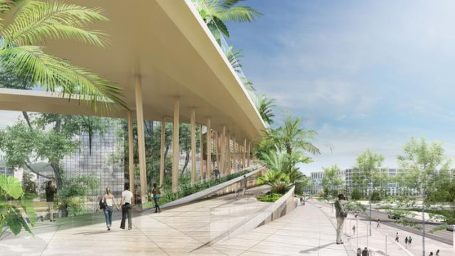 Bên trong tòa tháp gồm một trung tâm văn hóa kỹ thuật số, các cửa hàng bán lẻ, văn phòng và rất nhiều nhà hàng khác.