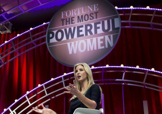 Ivanka Trump phát biểu tại Hội nghị thượng đỉnh Những người phụ nữ quyền lực nhất của Fortune tại Washington vào 14/10/2015. Ảnh: AP.
