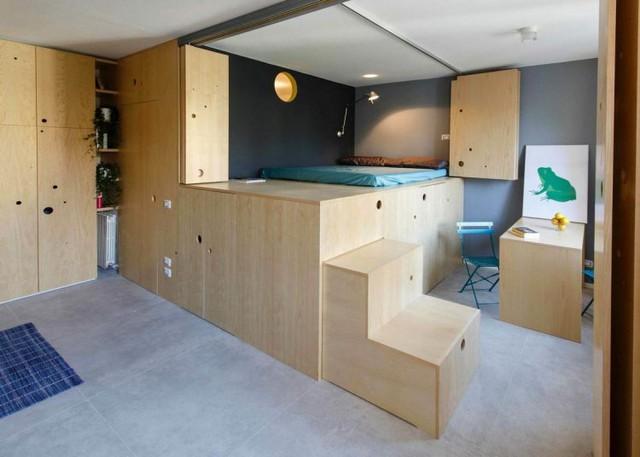 Giường ngủ với kết cấu hết sức đơn giản nhưng lại có ứng dụng cực cao.