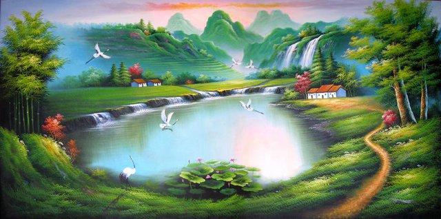 Bức tranh mang ý nghĩa của sự mưa thuận gió hòa, làm việc gì cũng thuận lợi và thành công.