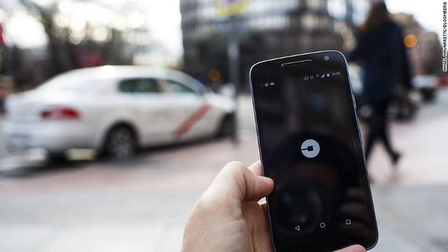 Ứng dụng Uber trên điện thoại