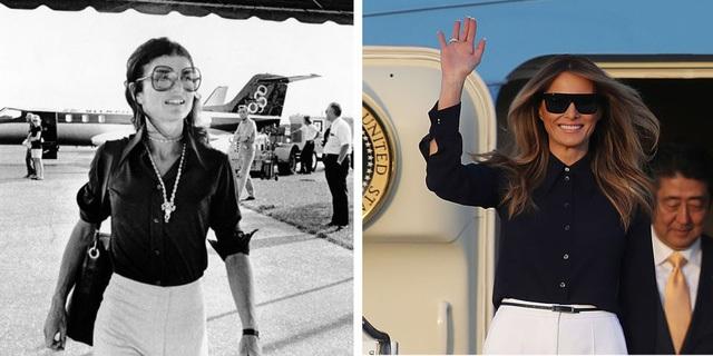 Tân Đệ nhất Phu nhân Mỹ- Bà Melania Trump được cho bị ảnh hưởng từ phong cách thời trang của cố Đệ nhất Phu nhân Jacqueline Kennedy.
