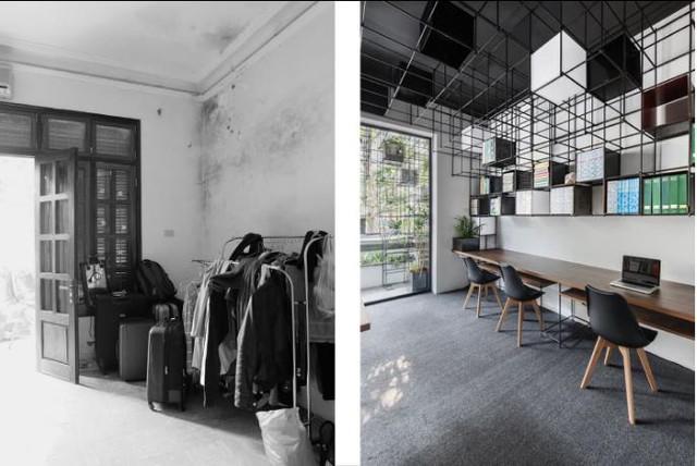 Nhóm kiến trúc sư trẻ đã thuê căn hộ này từ tháng 10/2016. Lúc mới thuê căn hộ này là một không gian cũ kỹ, nhiều bụi bặm.