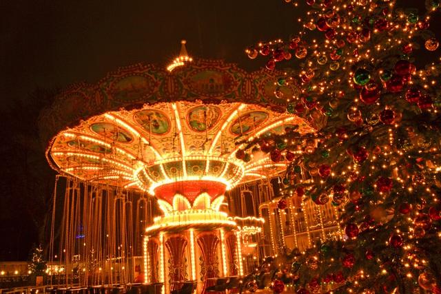 Trivoli Gardens trong thời gian chào đón Giáng sinh