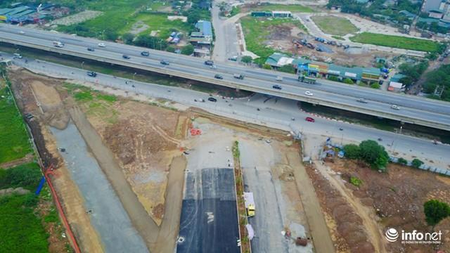 Điểm đầu của dự án giao với đường vành đai 3 (Nguyễn Xiển). Điểm cuối dự án nối với đường 70 và đi thẳng sang đường Xa La.