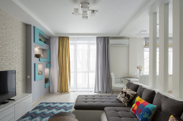 Khoảng diện tích thoáng sáng, ưa nhìn nhất của căn hộ được chọn đặt vị trí của phòng khách.
