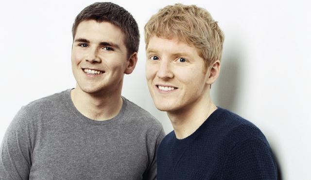 2 anh em John (27) và Patrick Collison (28), đồng sáng lập công ty thanh toán trực tuyến Stripe