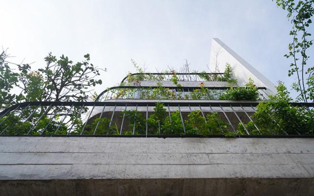 Trên diện tích 120m2 ngôi nhà được xây 4 tầng với cấu trúc không gian theo lối phân sàn phổ biến của nhà phố Việt Nam.
