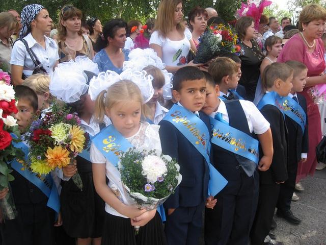 Buổi lễ khai giảng ở Kazakhstan.