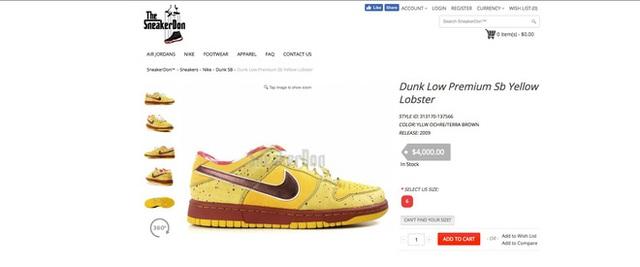 Chuyên bán những đôi sneaker hiếm có, dù hét giá trên trời vẫn có người mua
