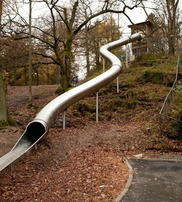 Những sân chơi trẻ em rất đa dạng và rộng khắp Thụy Điển.