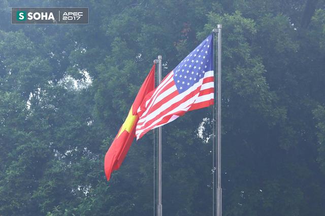 Quốc kỳ Việt Nam và Mỹ