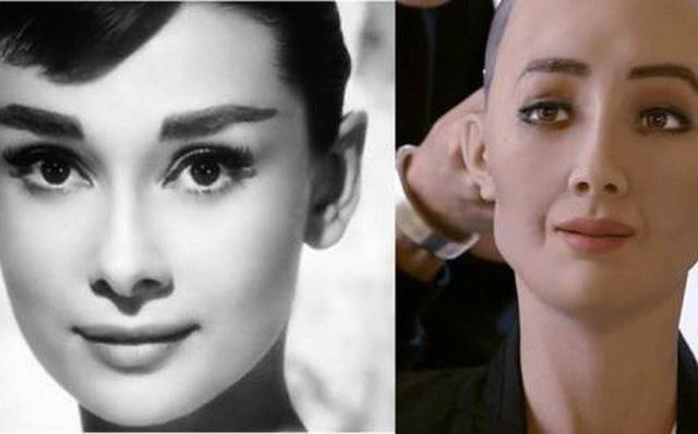 Sophia được thiết kế có vẻ ngoài giống nữ minh tinh xinh đẹp Audrey Hepburn. Ảnh: Medium