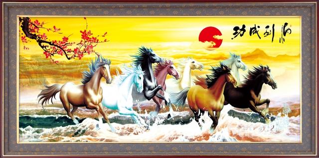 Bức tranh tượng trưng cho tài lộc, sự phát đạt trong kinh doanh.