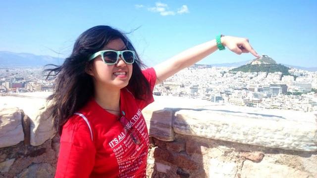Trong chuyến du lịch tới Athens, Hy Lạp. Ảnh: NVCC