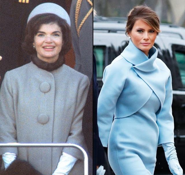 Bộ váy tân Đệ nhất Phu nhân mặc tại lễ nhậm chức của Tổng thống Donald Trump được cho khơi nguồn cảm hứng từ bộ váy Jackie mặc cũng tại lễ nhậm chức của John F. Kennedy