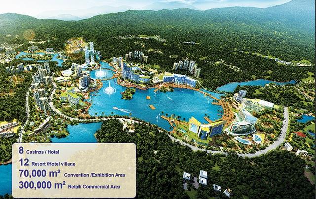 Phối cảnh Khu dịch vụ, du lịch phức hợp cao cấp casino Vân Đồn.