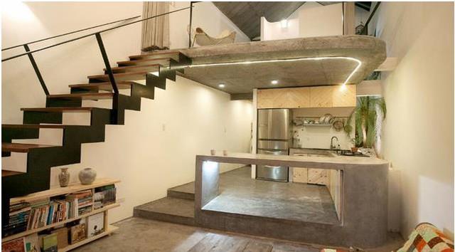 Không gian bên trong được thiết kế hoàn toàn mở, không một bức tường ngăn, không hề có cảm giác gò bó tù túng khi bước chân vào ngôi nhà này.