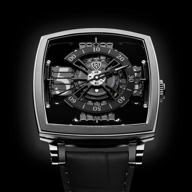 """Được thiết kế với Anish Kapoor, đồng hồ S110 Evo Vantablack làm nổi bật vật liệu tối vantablack, """"vật liệu tối nhất trong vũ trụ chỉ sau hố đen vũ trụ"""" ( giá 95.000 USD)."""
