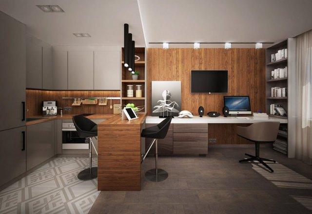 Với hai tông màu gỗ - xám chủ đạo mang đến nét sang trọng cho từng không gian. Để tạo điểm nhấn chủ nhân nơi này còn sử dụng thêm nhiều món nội thất lạ mắt để tạo nên những điểm nhấn ấn tượng và hút mắt cho căn hộ.