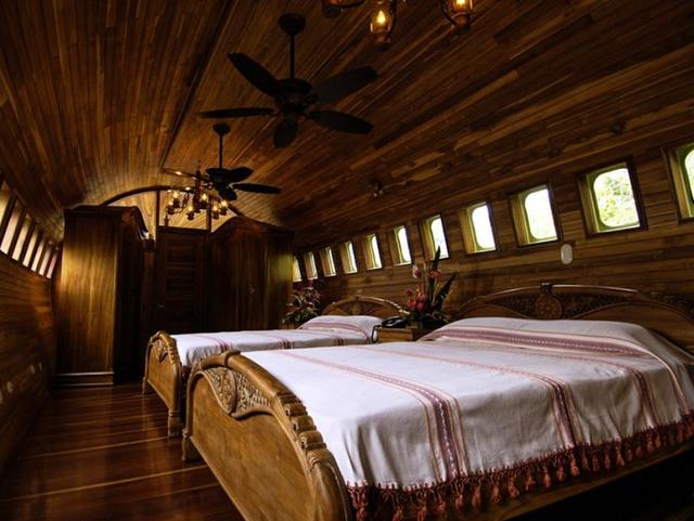 Không gian nghỉ ngơi được thiết kế theo phong cách cổ điển vô cùng sang trọng.
