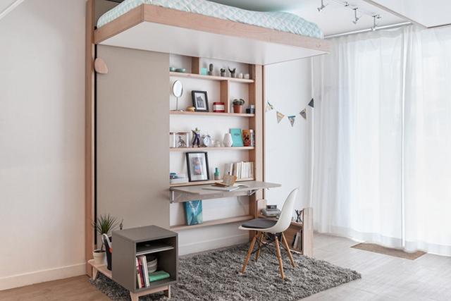 Chiếc giường thông minh này có thể được gắn bất cứ đâu: phòng khách, phòng ngủ, góc học tập…..